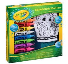 crayola bathtub body wash pens gift set 10 pc only 3 reg 10