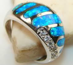fire opal rings images Blue fire opal rings jpg
