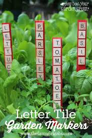 Vegetable Garden Labels by Letter Tile Garden Markers The Farm Gabs