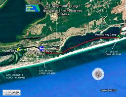 Navarre Beach Florida Map by Florida Saltwater Circumnavigation Paddling Trail