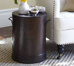 Drum Side Table The Rawson Metal Drum Accent Table