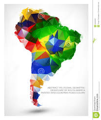Countries Of South America Map by Geometric Design Map Of South America Stock Photo Image 53558930
