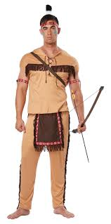 Cowboy Halloween Costumes Amazon California Costumes Men U0027s Native American Brave