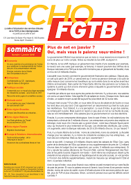 bureau du chomage bruxelles fgtb echo fgtb n 1 2018 publications