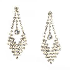 chandelier earrings fancy rhinestone diamond chandelier earrings gold