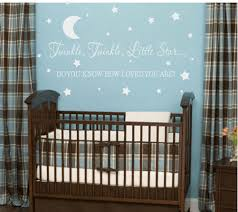 Moon And Stars Crib Bedding Baby Nursery Wall Decals And Wall Quotes For Baby Nursery Black