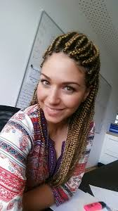 red cornrow braided hair white girl with box braids boxbraids x pression27 pinteres