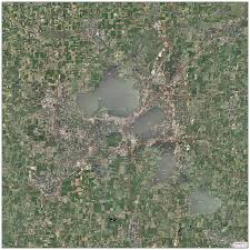Madison Wisconsin Map by Madison Metro Topo Map With Aerial Photography
