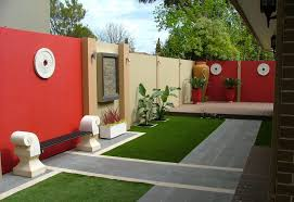 courtyard boundary feature wall small back yards pinterest