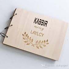 Bridal Shower Photo Album 2017 Personalized Custom Wedding Guest Book Wood Rustic Wedding