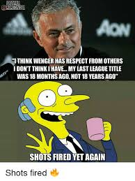 Shots Fired Meme - football omemesinsta ithink wenger has respectfromothers i don t