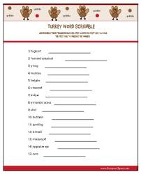 free printable thanksgiving thanksgiving word scramble