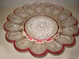 antique deviled egg plate vintage or egg plates
