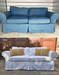 Slipcovered Sofa Bed Denim Slipcovers The Slipcover Maker