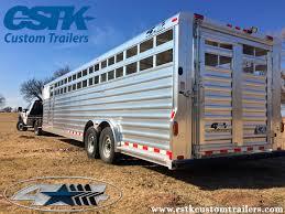 Horse Trailers For Rent In San Antonio Texas 2013 Exiss Aluminum Stock Combo Trailer W Living Quarter U0026 8