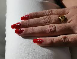 prom party wedding red nails beautiful design nail art youtube