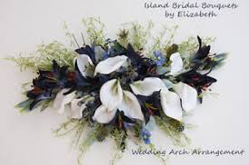 Wedding Arches Ebay Wedding Arch Flower Arrangement In Calla Lilies Navy U0026 White Ebay