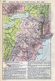 Map Of Colonies Map Of The Middle Colonies 1607 1760