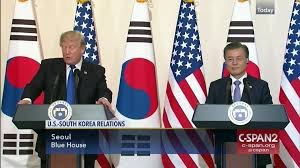 Seoul Flag President Trump Makes Sense North Korea Negotiating Table Nov 7 2017
