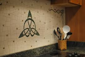 custom made celtic kitchen backsplash by phoenix handcraft