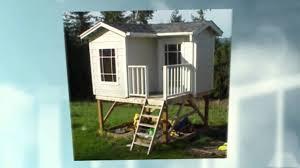 free playhouse plans 2 story playhouse youtube