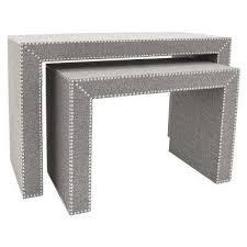 set of three end tables three hands gray accent tables living room furniture the