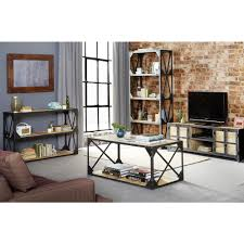 console table tv stand vintage industrial metal and wood tv stand console table