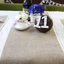 wedding runner hessian and satin wedding runner table decor by baloolah bunting