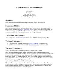 Sample Resume For Pharmacy Technician by Comcast Cable Installer Objective Resume Paperhangers