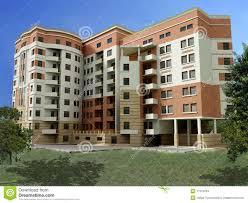 3d apartment building stock illustration image of public 11374004