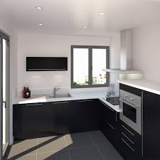 cuisine blanc mat sans poign meuble cuisine noir laquã unique de delinia blanc mat sans poignée