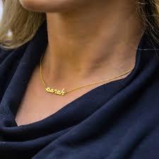 script name necklace personalized diamond script name necklace