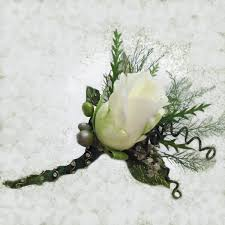 white boutonniere black tie white boutonniere waters edge floral