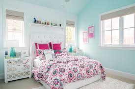 teen room paint kids transitional with glass nightstands and