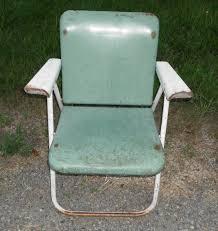 Samsonite Lawn Furniture by Antique Vintage Heavy Metal Folding Lawn Patio Chair Samsonite