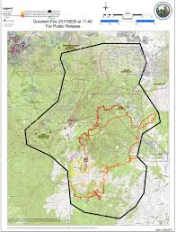 Map Of Arizona Highways by Map Of The Goodwin Fire The Fire U0027s Path Near Mayer Arizona
