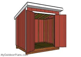 How To Build A Lean To Shed Plans by 6x8 Lean To Shed Roof Plans Myoutdoorplans Free Woodworking