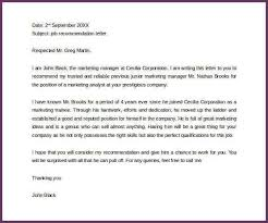 personal recommendation letters sample personal letter of