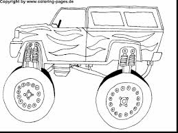 outstanding monster trucks coloring pages printable with monster