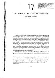 validation and psychotherapy pdf download available