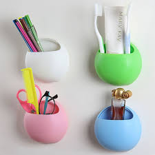 Designer Bathroom Accessories Aliexpress Com Buy Cute Toothbrush Holder Suction Hooks Cups