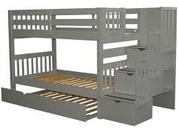Bunk Beds With Trundle Bunk Beds Twin Stairway Gray Trundle 812 Bunk Bed King