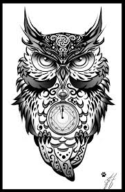 owl tribal clipart black white free owl tribal clipart black white