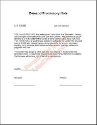 demand note template u0026 sample form biztree com promissory