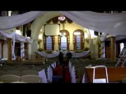 How To Do Ceiling Draping How To Prepare A Public Hall Building For Wedding Functions