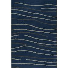 Modern Stripe Rug Modern Stripe Blue Grey Plush Area Rug 3 6 X5 6