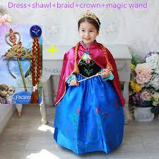 Anna Elsa Halloween Costumes Anna Dress Girls Costumes Diamond Princess Elsa Dress Disfraz