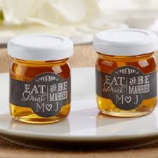 honey wedding favors personalized eat drink be married clover honey set of 12