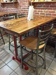 Industrial Bar Table Industrial Dining Tables Emmorworks