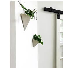 pyramid wall hanging planter vertical garden modern mid century